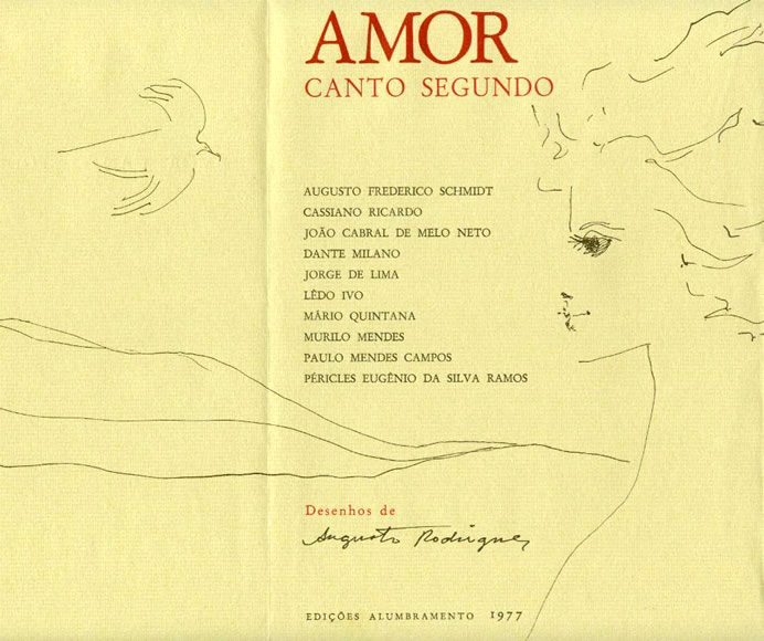 de amor canto segundo poemas de augusto frederico schmidt cassiano